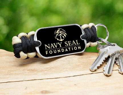 Key Fob - Navy SEAL Foundation - Black and Sand