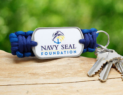 Key Fob - Navy SEAL Foundation - Blue and Yellow