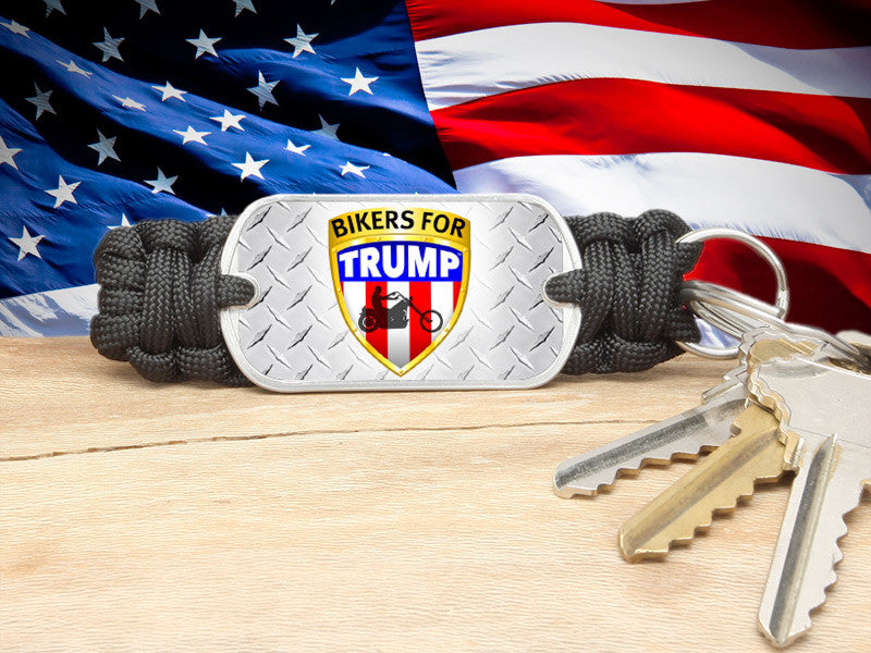 Key Fob - Bikers For Trump - Black