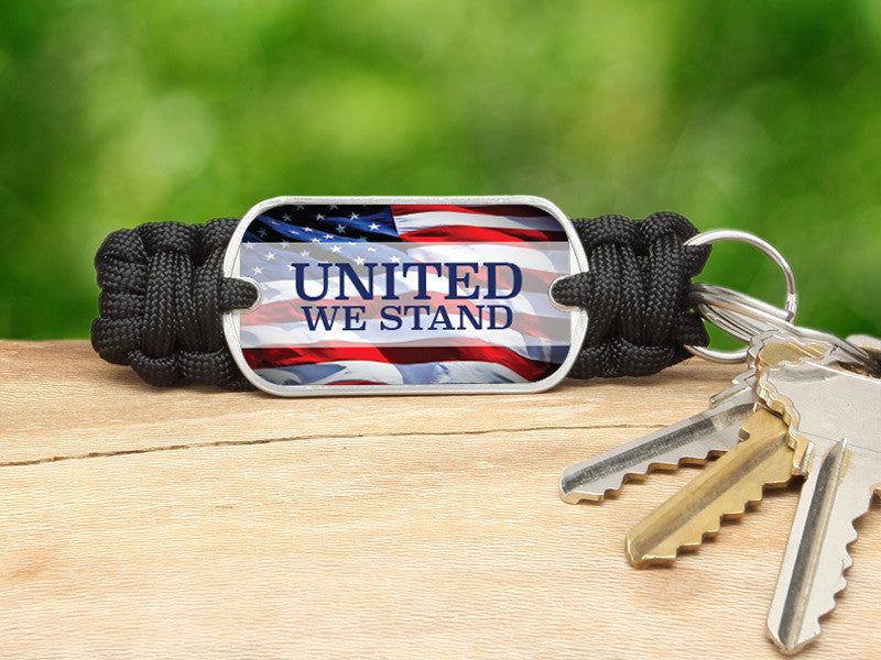 Key Fob - United We Stand Black