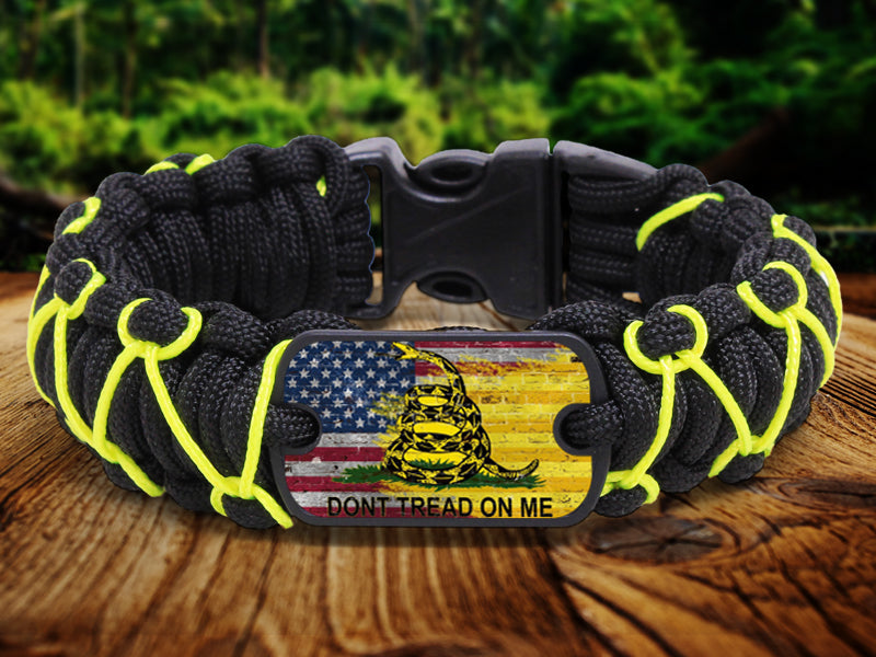Regular Survival Bracelet - Gadsden Flag Herringbone Special