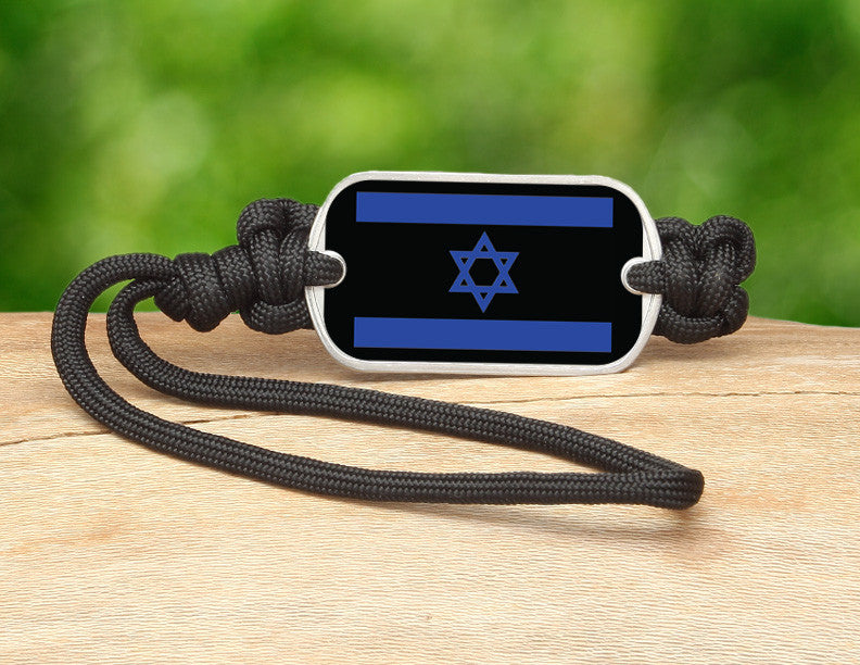 Gear Tag - Israeli Flag - Black