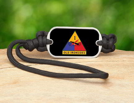 Gear Tag-U.S. Army™ 1st Armored Black