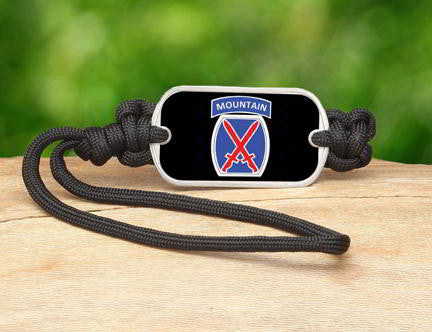 Gear Tag-U.S. Army™ 10th Mountain Black