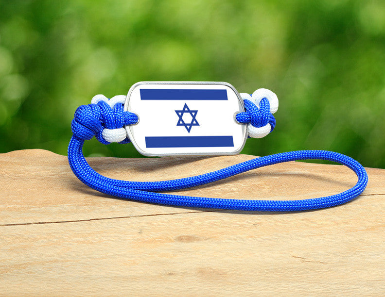 Gear Tag - Israeli Flag - Blue/White