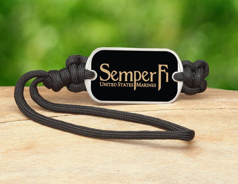 Gear Tag - Gold Semper Fi