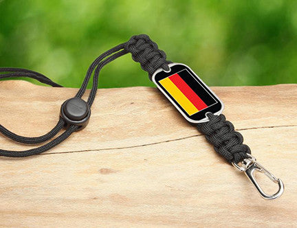Neck ID Lanyard - German Flag