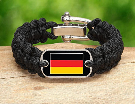 Regular Survival Bracelet - German Flag
