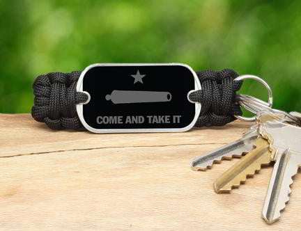 Key Fob - Gonzales Flag (Gray)