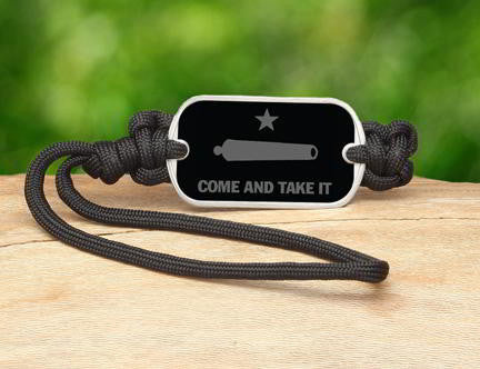 Gear Tag - Gonzales Flag (Gray)