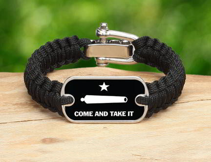 Light Duty Survival Bracelet - Gonzales Flag (White)