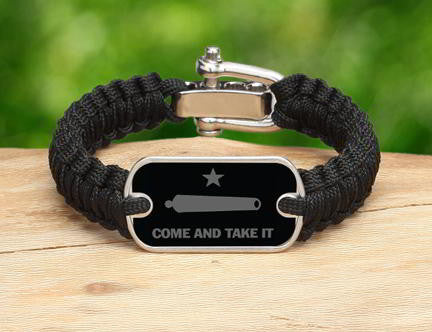 Light Duty Survival Bracelet - Gonzales Flag (Gray)