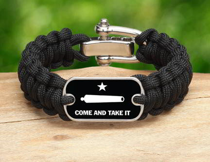 Regular Survival Bracelet - Gonzales Flag (White)
