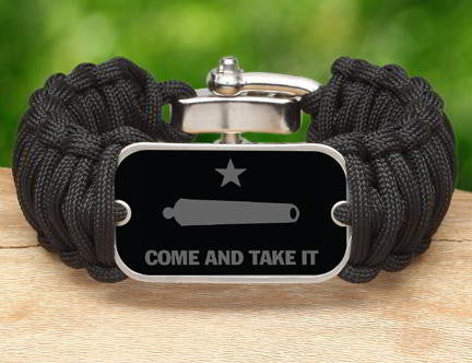 Wide Survival Bracelet - Gonzales Flag (Gray)