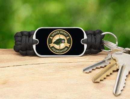 Key Fob-Green beret Foundation Logo
