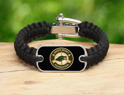 Light Duty Survival Bracelet™-Green Beret Foundation Logo