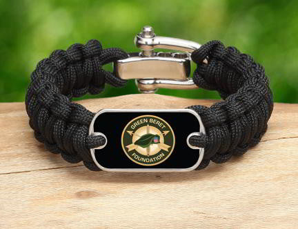 Regular Survival Bracelet™-Green Beret Foundation Logo