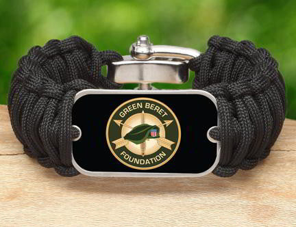 Wide Survival Bracelet™-Green beret Foundation Logo