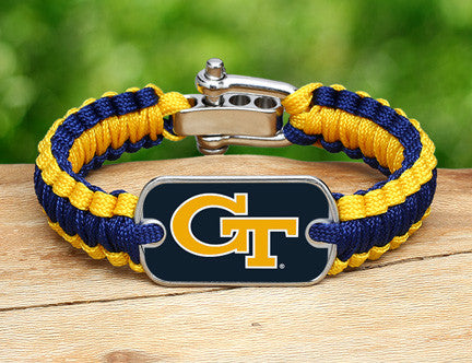 Light Duty Survival Bracelet™ - Officially Licensed - Georgia Tech®