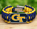 Wide Survival Bracelet™ - Officially Licensed - Georgia Tech®