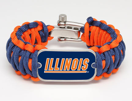 Wide Survival Bracelet™ - Officially Licensed - Illinois™ Fighting Illini®