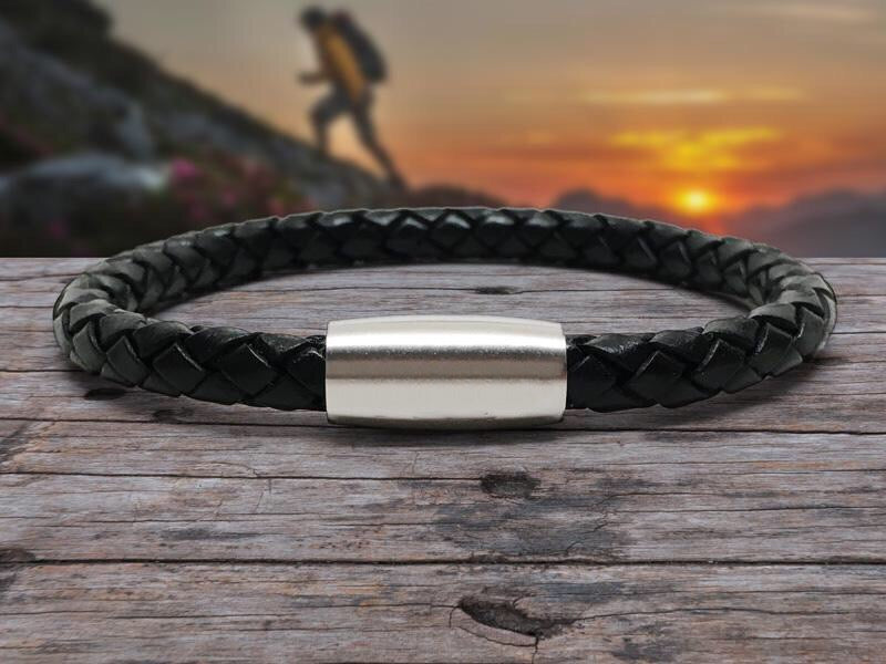 MC Leather Bracelet