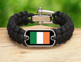 Regular Survival Bracelet - Irish Flag