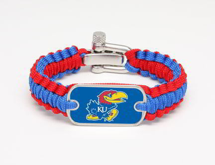 Light Duty Survival Bracelet™ - Officially Licensed - Kansas Jayhawks®