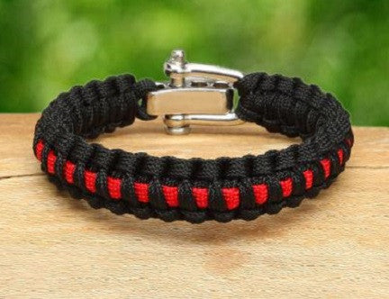 Light Duty Survival Bracelet™ - Firefighter Red Line