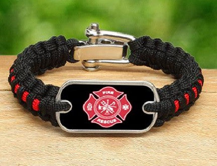 Light Duty Survival Bracelet™ - Firefighter Tag