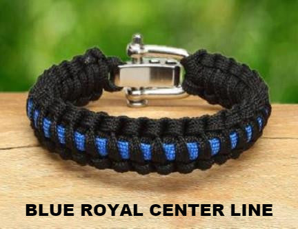 Light Duty Survival Bracelet™ - Police Blue Line