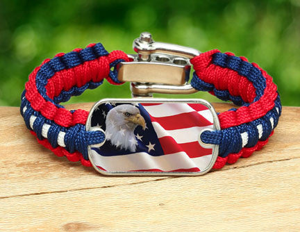 Light Duty Survival Bracelet - America Strong Eagle1 Logo