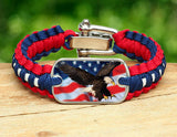 Light Duty Survival Bracelet - America Strong Eagle3 Logo