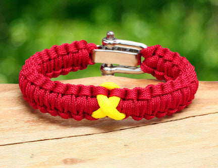 Light Duty Survival Bracelet™ - RED Friday Ribbon