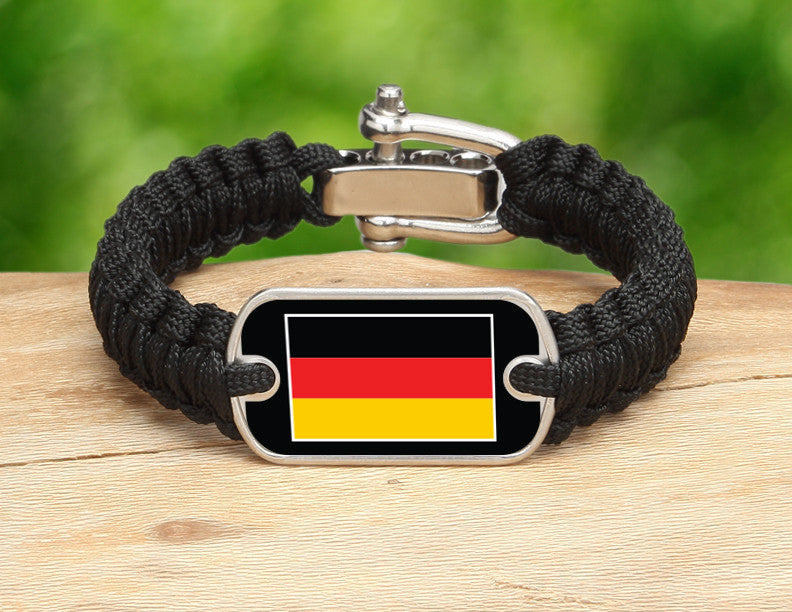 Light Duty Survival Bracelet™ - German Flag