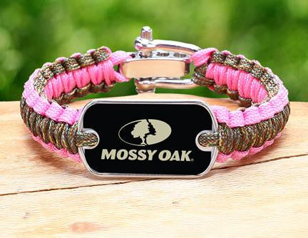 Light Duty Survival Bracelet™ - Mossy Oak® - Matches Multicam® and Rose Pink