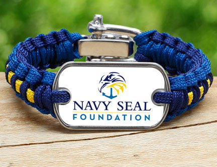 Light Duty Survival Bracelet™- Navy SEAL Foundation - Blue and Yellow