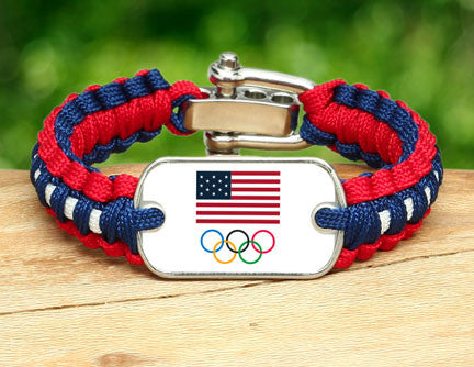Light Duty Survival Bracelet™- Team USA 5-Ring