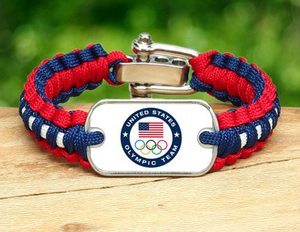 Light Duty Survival Bracelet™ - US Olympic Team (White)