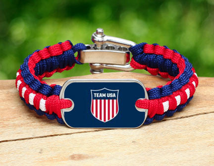 Light Duty Survival Bracelet™ - Team USA Shield