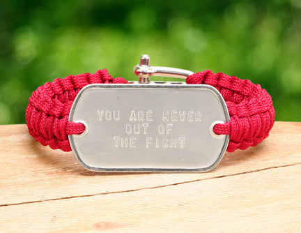 Light Duty Survival Bracelet™ - RED Friday Custom Embossed