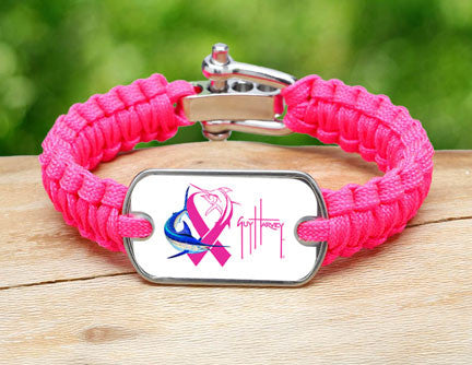 Light Duty Survival Bracelet™-Guy Harvey-Neon Pink Ribbon