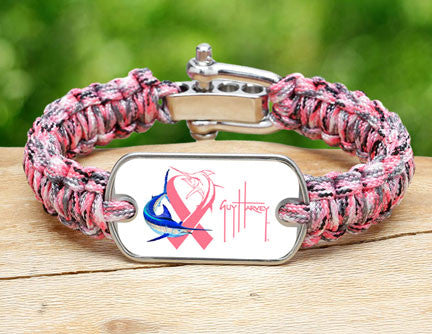 Light Duty Survival Bracelet™-Guy Harvey-Camo Pink Ribbon