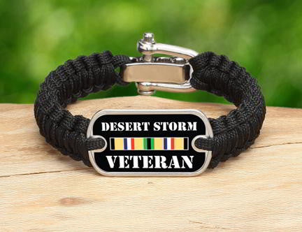 Light Duty Survival Bracelet™- Desert Storm Veteran