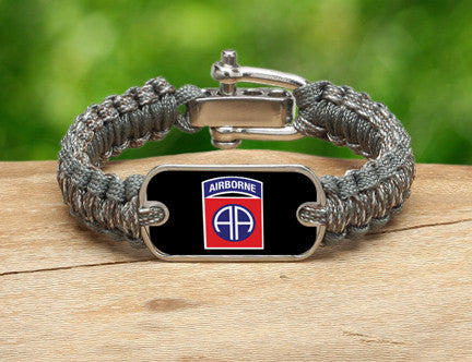 Light Duty Survival Bracelet™-U.S. Army™ 82nd Airborne ACU/Foilage