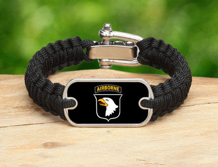 Light Duty Survival Bracelet™-U.S. Army™ 101st Airborne Black
