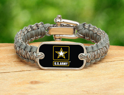 Light Duty Survival Bracelet - Officially Licensed - U.S. Army™ - ACU/Foliage
