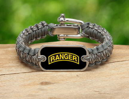 Light Duty Survival Bracelet™-U.S. Army™ Rangers ACU/Foilage