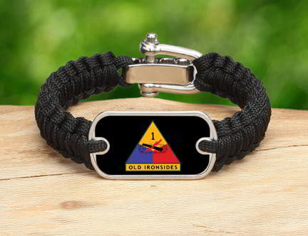 Light Duty Survival Bracelet™-U.S. Army™ 1st Armored Black