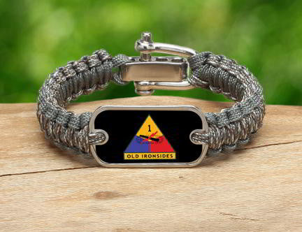 Light Duty Survival Bracelet™-U.S. Army™ 1st Armored ACU/Foilage